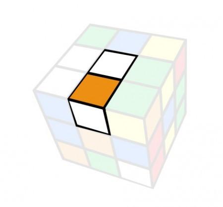 couleurs inversées rubik's cube