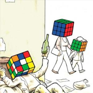 Rubik's cube drôle