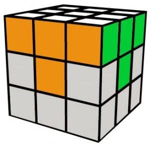 Rubik's cube 1ère face